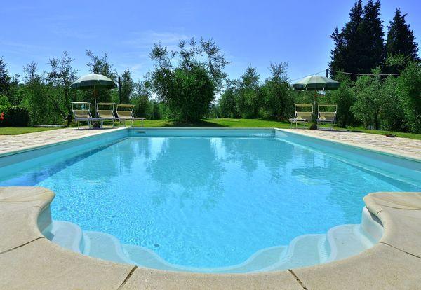 Pool at Villa Buonaparte, walk to town