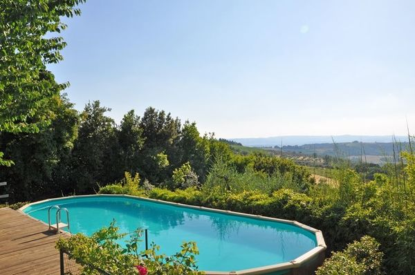 Pool and view at Barberino, villa sleeps 16 in town centre